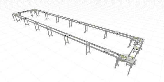 南京翰廷32米环形自动皮带线的规划设计