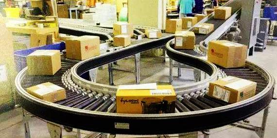南京翰廷动力辊筒线在物流分拣行业的应用